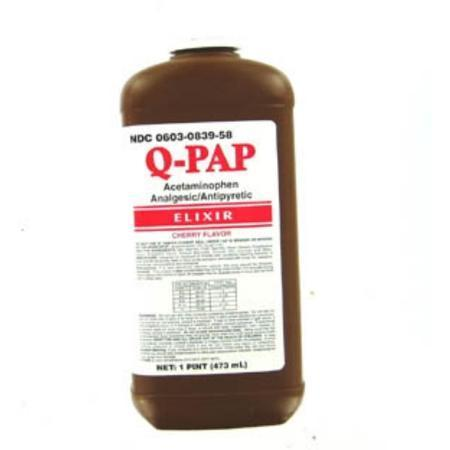 Qualitest Pharm Q-Pap Cherry, 160 mg- 4 oz