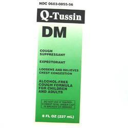 Qualitest Pharm Q-Tussin Dm, Cherry, 16 oz