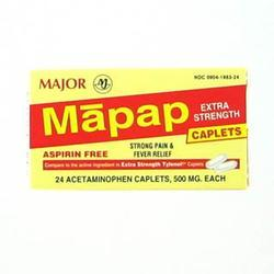 Major Pharm Mapap Acet Bx,  500 mg- 100 tab