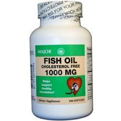 Major Pharm Fish Oil,  1000 mg- 100 caps