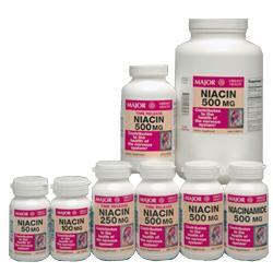 Major Pharm Niacin,  Time Release,  500 mg- 100 caplets