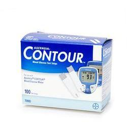 Ascensia Contour Blood Glucose Test Strips, 100 ea