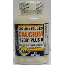 Basic Vitamins                 Liquid Filled Calcium, 60 liquid gels