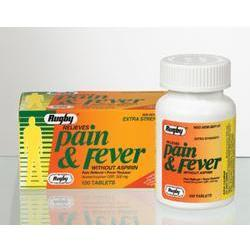 Watson Pharma Rugby, Pain & Fever Relief, Without Aspirin, 500 mg- 100 tab