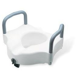 Sunrise Medical Guardian Locking Raised Toilet Seat, with Arms, 1 ea