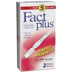 Fact Plus One Step Pregnancy Test, Contains 2 tests, 2 kit
