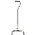 Drive Medical Design Quad Cane Chrome,  Large, 1 ea