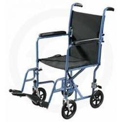 Drive Medical Design Steel Transport Chair,  19 inch Silver, 1 ea