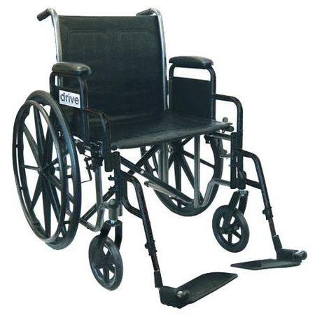 Drive Medical Design Silver Sport Wheelchair, 1 ea