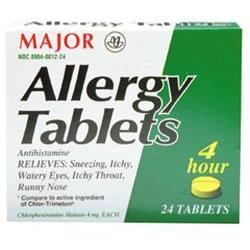 Major Pharm Allergy,  4 mg- 100 tab