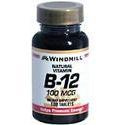 Windmill Health Products B-12, 100 mcg- 100 tab