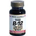 Windmill Health Products B-12, 500 mcg- 60 tab
