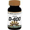 Windmill Health Products Vit D, 400 IU- 100 tab