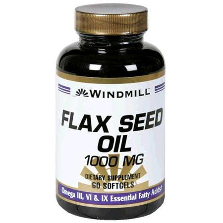 Windmill Health Products Flax Seed Oil, 1000 mg- 60 soft gels