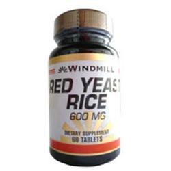 Windmill Health Products Red Yeast Rice, 600 mg- 60 tab