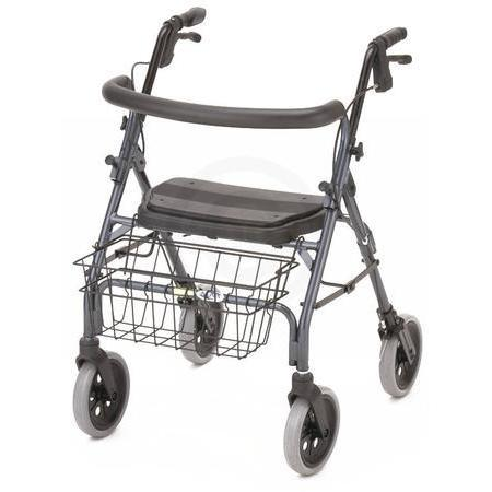 Cruiser Deluxe Walker,  BLUE 4 WHEEL, 1 ea