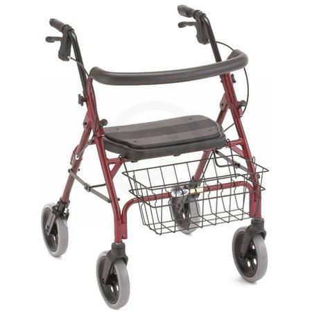 Cruiser Deluxe Walker,  RED 4 WHEEL, 1 ea