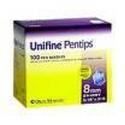 Unifine Pentips, 31 Gauge Short 5/16 inch 8mm, 100 ea