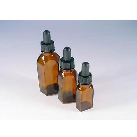Amber Glass Dropper, 12 Units 2 oz - PlanetRx