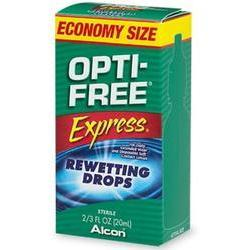Opti Free Express Rewetting Drops For Contact Lenses,  Economy Size, 10 ml