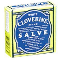 White Cloverine Salve Tins, 1 oz