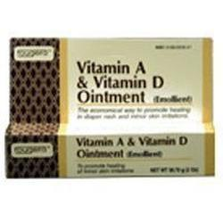 Fougera & Co. Vitamin A&D Ointment Tube For Diaper Rash, 2 oz