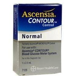 Ascensia Microfil Blood Glucose Meter System 7109,  Normal Control, 2.5 ml