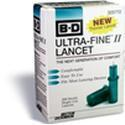 Becton-Dickinson Ultrafine Ii Blood Glucose Lancets,  FINE II, 200 lancets