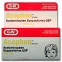 G&W Labs Acephen Acetaminophen suppositories, Pediatric, 120 mg- 12 ea