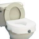 Carex Health E-Z Lock Raised Toilet Seat Model B305-00,  Lock Contur, 1 ea
