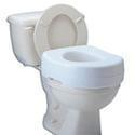 Carex Health Raised Toilet Seat with Blow Molded,  Fits Most, 1 ea