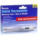 KAZ Digital Thermometer Mercury Free 820, DGTL, 1 ea