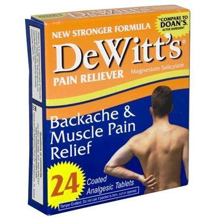 Lee Pharm Dewitts Backache & Muscle Pain Relief Coated Analgesic Tablets, for Back Pain, 24 tab