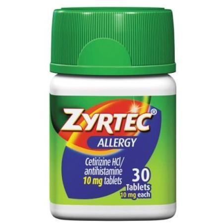 Zyrtec Allergy Relief Tablets,  24 Hour,  10 mg- 30 tab
