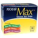 Sanvita Nova Max Blood Glucose Test Strips, #43437, TEST, 50 ea