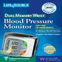 LifeSource Dual Memory Wrist Digital Blood Pressure Monitor Model UB-512, DUAL MEMORY, 1 ea