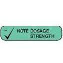 Apothecary Products Inc. Patient Advisory Label,  Note dosage strength, 1000 ea