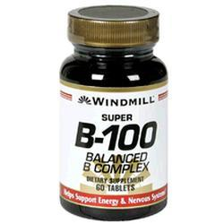 Windmill Health Products Super B- 100 Complx, 60 tab