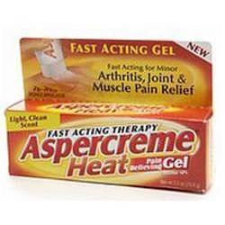 Chattem Aspercreme Heat Pain Relieving Gel, 2.5 oz