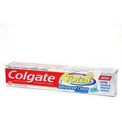 Colgate Total Anticavity & Antigingivitis Toothpaste Advanced Clean,  Plus Whitening Gel, 5.8 oz