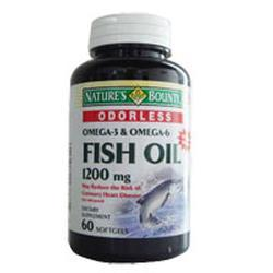 Nature's Bounty Fish Oil, Enteric Coated, 1200 mg- 60 soft gels