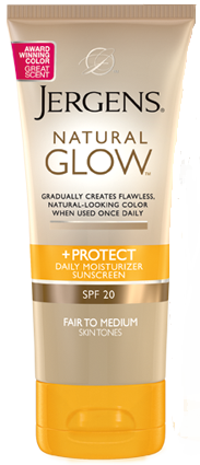 Jergens Natural Glow +Protect Daily Moisturizer SPF20, 2 oz