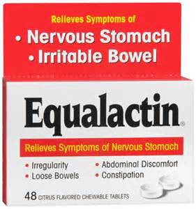 Numark Labs Equalactin Citrus Flavored Chewable Tablets for Irritable Bowels, 500 mg- 48 tab