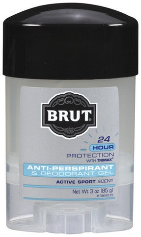Brut Anti-Perspirant & Deodorant with Trimax, Clear Gel Active Sport, 3 oz