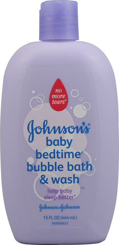 Johnson & Johnson Baby Bedtime Bubble Bath, 15 oz