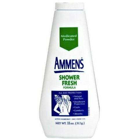 Ammens Medicated Deodorant Powder,  Shower Fresh, 11 oz - PlanetRx