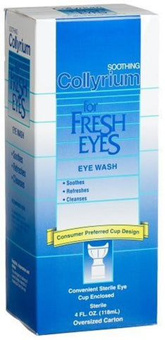 Bausch & Lomb Collyrium For Fresh Eye Wash By Bausch & Lomb,  with cup, 4 oz