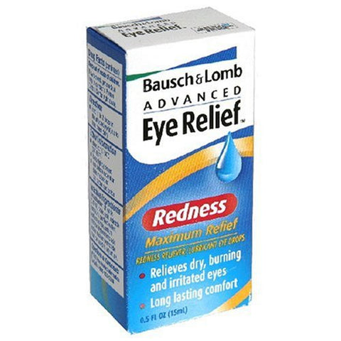 Bausch & Lomb Advanced  Maximum Redness Relief Lubricant Eye Drops, 15 ml