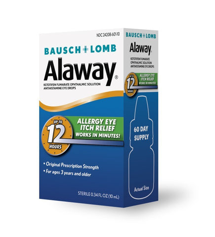 Bausch & Lomb Alaway Eye Itch Relief Drops, 10 ml