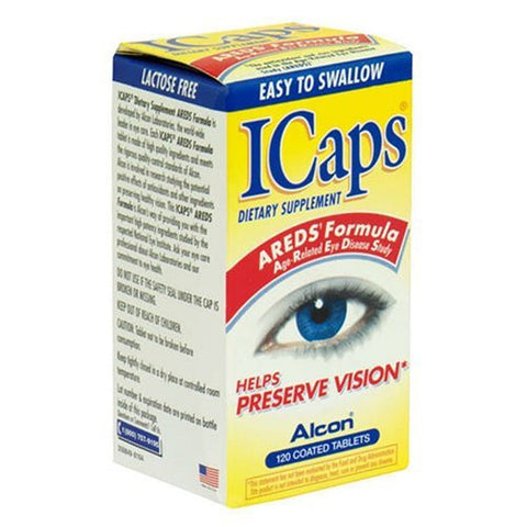 ICaps Eye Vitamin & Mineral Supplement Areds Formula Coated Tablets, 120 tab